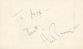 HAROLD HAL PRINCE - INSCRIBED SIGNATURE