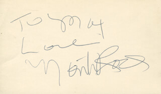 MONTI ROCK III - AUTOGRAPH NOTE SIGNED