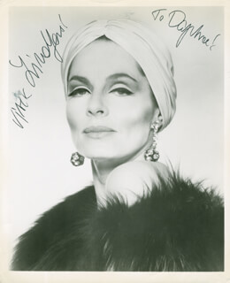 VIVECA LINDFORS - AUTOGRAPHED INSCRIBED PHOTOGRAPH