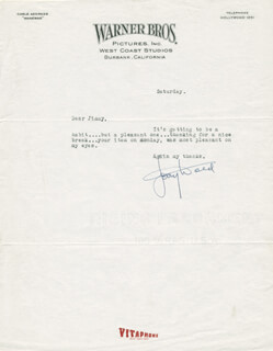 JERRY WALD - TYPED LETTER SIGNED