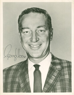 GARRY MOORE - AUTOGRAPHED SIGNED PHOTOGRAPH