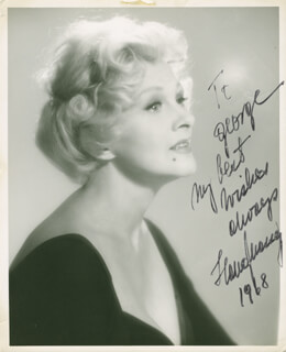 IIONA MASSEY - AUTOGRAPHED INSCRIBED PHOTOGRAPH 1968