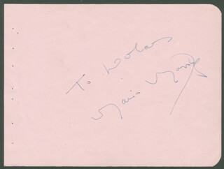 MARIA MONTEZ - INSCRIBED SIGNATURE