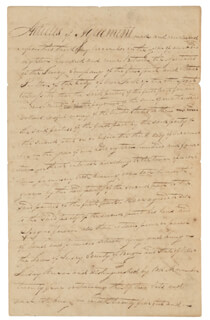 Autographs: ROBERT FULTON - MANUSCRIPT DOCUMENT SIGNED 11/03/1809