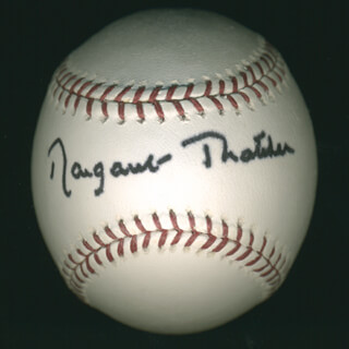 Autographs: PRIME MINISTER MARGARET THATCHER (GREAT BRITAIN) - BASEBALL SIGNED