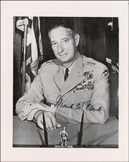 Autographs: GENERAL MARK W. CLARK - PHOTOGRAPH SIGNED