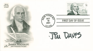 JIM DAVIS - FIRST DAY COVER SIGNED