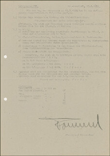 GENERAL ERWIN THE DESERT FOX ROMMEL - DOCUMENT SIGNED 02/17/1939