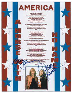 AMERICA - AUTOGRAPHED SIGNED POSTER CO-SIGNED BY: AMERICA (GERRY BECKLEY), AMERICA (DEWEY BUNNELL)
