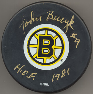 JOHN BUCYK - HOCKEY PUCK SIGNED