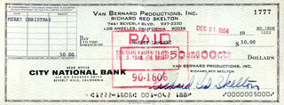 RED SKELTON - AUTOGRAPHED SIGNED CHECK 12/21/1964