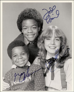 DIFF'RENT STROKES TV CAST - AUTOGRAPHED SIGNED PHOTOGRAPH CO-SIGNED BY: GARY COLEMAN, TODD BRIDGES, DANA PLATO