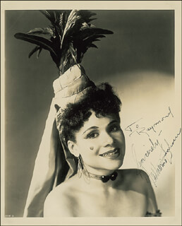 KATHERINE DUNHAM - AUTOGRAPHED INSCRIBED PHOTOGRAPH