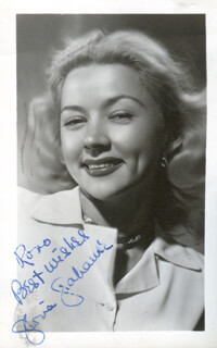 GLORIA GRAHAME - PICTURE POST CARD SIGNED CIRCA 1948