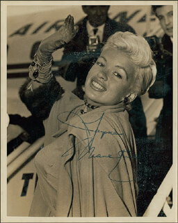JAYNE MANSFIELD - AUTOGRAPHED SIGNED PHOTOGRAPH