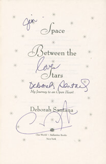 CARLOS SANTANA - INSCRIBED BOOK SIGNED CO-SIGNED BY: DEBORAH SANTANA
