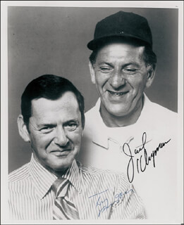 THE ODD COUPLE TV CAST - AUTOGRAPHED SIGNED PHOTOGRAPH CO-SIGNED BY: JACK KLUGMAN, TONY RANDALL