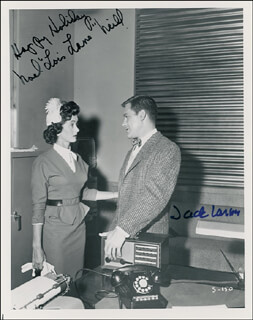 SUPERMAN TV CAST - AUTOGRAPHED SIGNED PHOTOGRAPH CO-SIGNED BY: NOEL NEILL, JACK LARSON