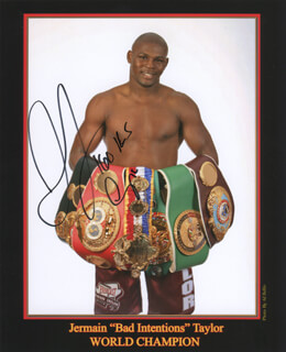 JERMAIN BAD INTENTIONS TAYLOR - AUTOGRAPHED SIGNED PHOTOGRAPH