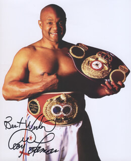 GEORGE FOREMAN - AUTOGRAPHED SIGNED PHOTOGRAPH