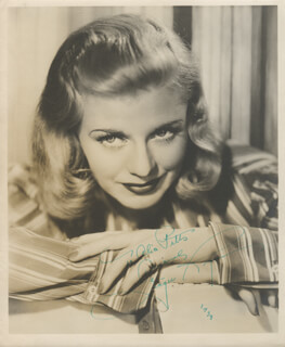 GINGER ROGERS - AUTOGRAPHED INSCRIBED PHOTOGRAPH 1938