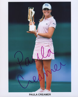 PAULA CREAMER - AUTOGRAPHED SIGNED PHOTOGRAPH