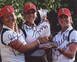 PAULA CREAMER - AUTOGRAPHED SIGNED PHOTOGRAPH CO-SIGNED BY: NATALIE GULBIS, CHRISTINA KIM