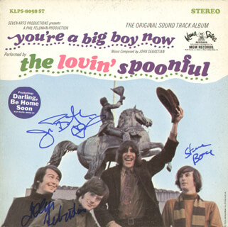 LOVIN' SPOONFUL - RECORD ALBUM COVER SIGNED CO-SIGNED BY: LOVIN' SPOONFUL (JOHN SEBASTIAN), LOVIN' SPOONFUL (JOE BUTLER), LOVIN' SPOONFUL (STEVE BOONE)