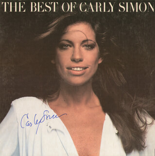 CARLY SIMON - RECORD ALBUM COVER SIGNED