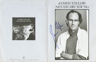 JAMES TAYLOR - ADVERTISEMENT SIGNED