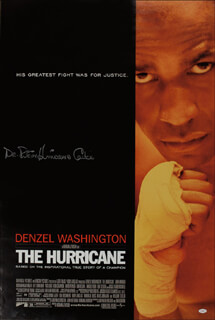 RUBIN HURRICANE CARTER - AUTOGRAPHED SIGNED POSTER