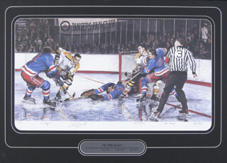 8f56481cee3 EDDIE FAST EDDIE GIACOMIN - LITHOGRAPH SIGNED CO-SIGNED BY: PHIL ESPOSITO,  JOHN