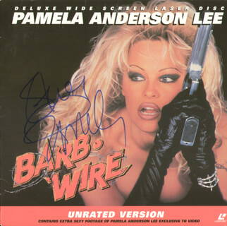Autographs: PAMELA ANDERSON - LASER MEDIA COVER SIGNED
