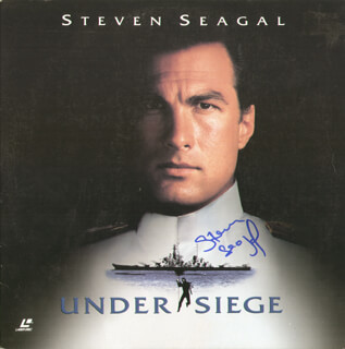 STEVEN SEAGAL - LASER MEDIA COVER SIGNED