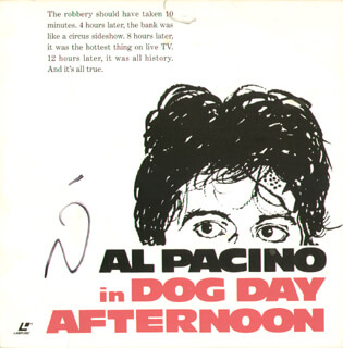 AL PACINO - LASER MEDIA COVER SIGNED