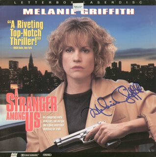 MELANIE GRIFFITH - LASER MEDIA COVER SIGNED