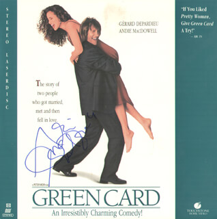 ANDIE MacDOWELL - LASER MEDIA COVER SIGNED