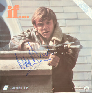 MALCOLM McDOWELL - LASER MEDIA COVER SIGNED