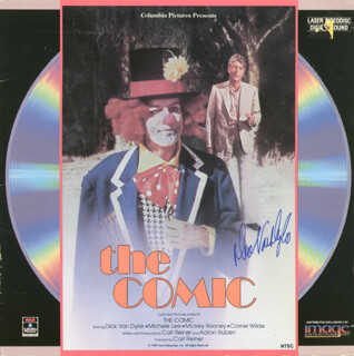 DICK VAN DYKE - LASER MEDIA COVER SIGNED