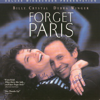 FORGET PARIS MOVIE CAST - LASER MEDIA COVER SIGNED CO-SIGNED BY: BILLY CRYSTAL, DEBRA WINGER
