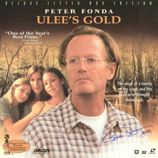 PETER FONDA - LASER MEDIA COVER SIGNED 2001