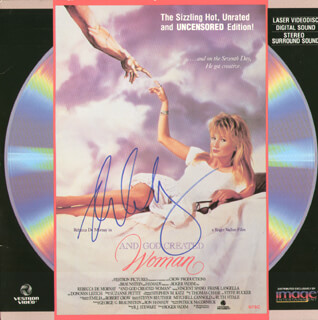 REBECCA DE MORNAY - LASER MEDIA COVER SIGNED