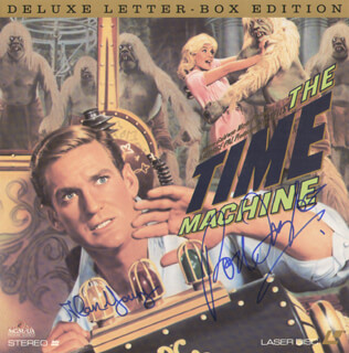 TIME MACHINE MOVIE CAST - LASER MEDIA COVER SIGNED CO-SIGNED BY: ALAN YOUNG, ROD TAYLOR