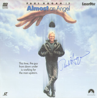PAUL HOGAN - LASER MEDIA COVER SIGNED