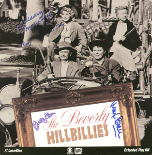 BEVERLY HILLBILLIES TV CAST - LASER MEDIA COVER SIGNED CO-SIGNED BY: MAX BAER JR., DONNA DOUGLAS, BUDDY EBSEN