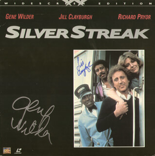 SILVER STREAK MOVIE CAST - LASER MEDIA COVER SIGNED CO-SIGNED BY: GENE WILDER, JILL CLAYBURGH