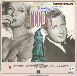 LLOYD BRIDGES - LASER MEDIA COVER SIGNED