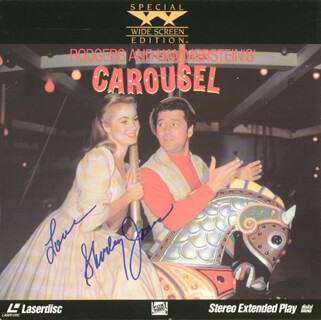 Autographs: SHIRLEY JONES - LASER MEDIA COVER SIGNED