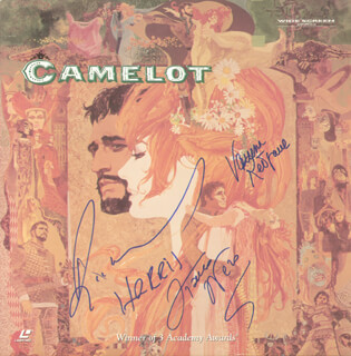 CAMELOT MOVIE CAST - LASER MEDIA COVER SIGNED CO-SIGNED BY: RICHARD HARRIS, VANESSA REDGRAVE, FRANCO NERO