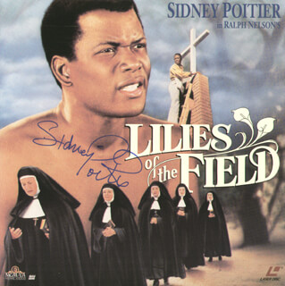 Autographs: SIDNEY POITIER - LASER MEDIA COVER SIGNED